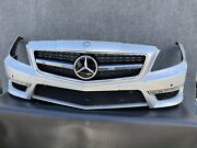 ✔mercedes W218 Cls63 Front Bumper Cover Panel Fog Light Grill Assembly Oem