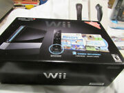 Nintendo Wii Black Console W/2 Games Included - Plus Wii Accessories Bundle Set