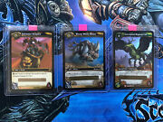 Wow Tcg Loot Card - Wooly White Rhino / Corrupted Hippogryph / Saltwater Snapjaw