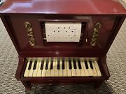 Piano Lodeon J. Chein And Co. Mini Automatic Player With Scrolls