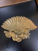 Antique Tray Victorian Calling Card Or Adh Tray Figure Lafy Belgium Brass