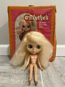 Kenner 1972 Blythe Doll Blonde Working Color Changing Eyes Plus Wardrobe Read