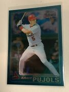 2001 Topps Chrome Late Addition Albert Pujols Rookie Rc Cardinals 596