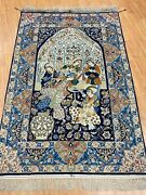 3and0397 X 5and0393 Antique Turkish Oriental Rug - 1930s - 800 Kpsi - Wool And Silk