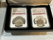 2021 Great Britain Britannia Proof And Reverse 2-coin Silver Set Ngc 70 1st Day