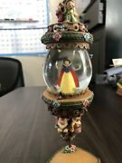 Disney Snow White And The 7 Dwarves Hanging Snow Globe With Vine Stand - Rare