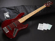 Edwards By Esp E-am-160qm Black Cherry 5 Strings Made In Japan Jb Type Y1655