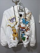 Nwt Members Only X Nicklelodeon Rugrats Unisex Windbreaker Jacket White-size L