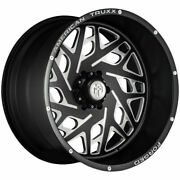 22x12 Black Milled Wheels American Truxx Forged Atf1909 Aries 8x180 -44 Set Of