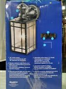 1-light Black Motion Activated Outdoor Wall Lantern Sconce By Heath Zenith