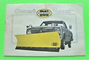 Ca 1976 Meyer Snow Plow Owner Manual For Your Chevy Dodge Ford Truck Original