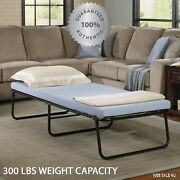 Folding Guest Bed Cot Camping Memory Foam Mattress Portable Twin Steel Frame New