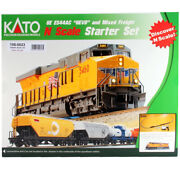 Kato 1060023 Ge Es44ac Gevo And Mixed Freight Starter Set Union Pacific N Scale