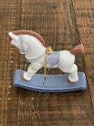 Lladro China Rocking Horse Christmas Holiday Ornament Limited Edition Mint