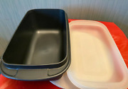 Tupperware Ultra Pro Oval Oven Safe Loaf Pan Microwave Safe Dish And Seal New