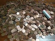 Lot Of 4000 + Canadian Copper Penny 1950and039sandup Estate Collection Unsearched-22+lb