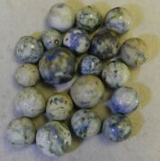 10713m Vintage Group Of Mostly Old Crockery Marbles .51 To .81 Inches