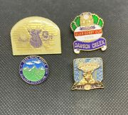 Vintage Elks Pin Collection 4 Pins Dawson Creek 1988 1989 Fort Nelson Hythe