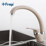 Frap Brass 5 Color Kitchen Sink Faucet Mixer Cold And Hot Single Handle Swivel