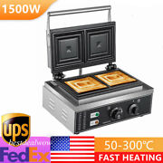 Electric Press Grill Sandwich Maker 2-slices Double-sided Non-stick 1500w Usa