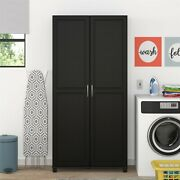 Utility Storage Cabinet Kitchen Food Pantry Garage Laundry Room Tall Cabinet