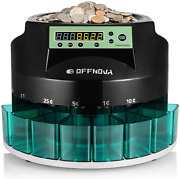 Offnova Hardaway Electric Automatic Coin Sorter And Counter Machine Coins Up To