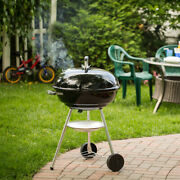 Charcoal Smoker Grills With Round Plated-steel Cooking Grate Outdoor Bbq Carts