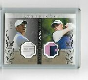 2021 Ud Artifacts Golf Match Play Tiger Woods And Justin Thomas Dual Patch 1/10