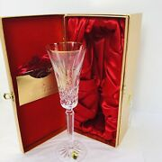Waterford 2015 12 Days Of Christmas Lismore Partridge Gold Trim Champagne Flute