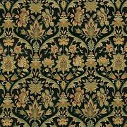 Traditional Chenille Ebony Black Upholstery Chair Cushions Sewing Fabric Bty