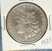 1921 P Morgan Silver Dollar Bu This Is A Beautiful Coin-rising In Value-buy Now