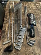 Jpx 919/921 Hot Metal 4-gw, Cleveland Putter And Wedges.