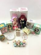 Precious Moments Lot Of Christmas Figurines And Ornaments Plus Misc Pieces