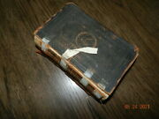1851 Bible Old New Testament Leather Bound Poor Condition See Pics Civil War Era