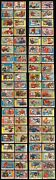 1955 Topps All American Near Complete Set - Lot Of 80 - Vg-ex+ Many Stars And Sps