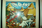 Orig Alternate Backglass Painting For Williams Pharaoh Pinball Pick-up Only