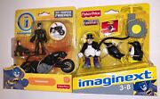 Catwoman And Catcycle And The Penguin Imaginext Dc Super Friends Rare Dinged Pkgs