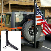 Hitch Mount Flagpole Holder Trailer Receivers Flag Pole Hold Rv Flags Car Camper