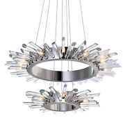 Cwi Lighting-18 Light Chandelier With Polished Nickle Finish