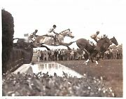Bandw Photo Of The 1932 Running Of The International Steeplechase At Belmont Park