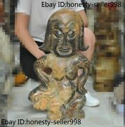 24chinese Hongshan Culture Old Jade Carved Beast Primitive People Woman Statue