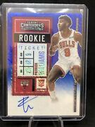 2020-21 Panini Contenders Patrick Williams /20 Blue Shimmer Rc Ticket Auto Fotl