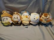 Set Of 5 Disney Ufufy Beauty And The Beast With Rose Smell Nwt
