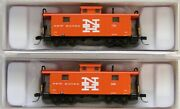 Atlas N Scale Ne-5 Caboose New Haven Nh Road 516 And 606 Lot Of Two New