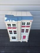 Vtg Rare 2000 Fisher Price Special Edition Townhouse Dollhouse Lights And Sounds