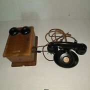 Antique Western Electric Telephone And Ringer Set