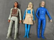 1960and039s Marx Johnny West 3 Figure And Accessory Lot Geronimo Jane West Custer