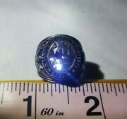 Vintage - Military Army Engineers Ring - Silver White - Size 7 - Alpha Brand
