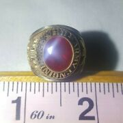 Vintage - Military Army Engineers Ring - Gold Red - Size 7.5 - Alpha Brand