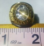 Vintage - Military Army Engineers Ring - Gold White - Size 7.5 - Alpha Brand